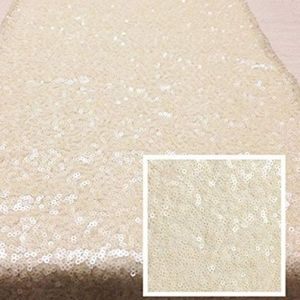 """Other - Ivory Sequin Round Tablecloth 120"""""""